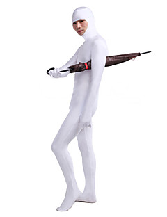 White Open Face Lycra Catsuit