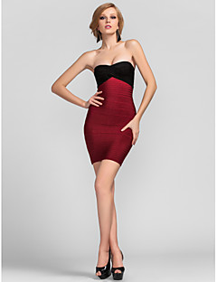 Cocktail Party Dress - Multi-color Petite Sheath/Column Strapless / Sweetheart Short/Mini Rayon