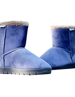 pu Nejnovější pánské kožené ploché poloviny lýtek zimní boty