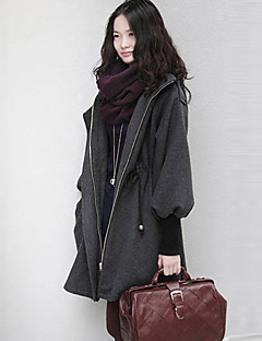 PRENAIR Casual Gather Hoodie Tweed Coat