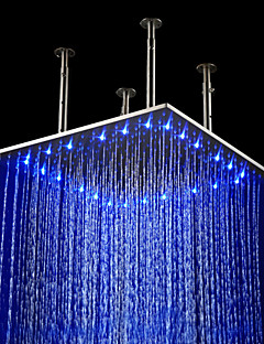 20 inch Stainless Steel Shower Head with Color Changing LED Light