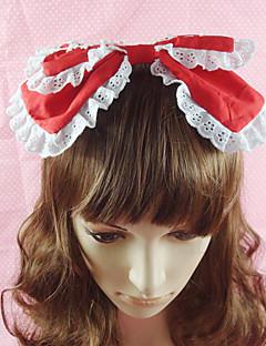 Lolita Jewelry Sweet Lolita Headwear Princess Red / Black / Pink / Blue Lolita Accessories Headpiece Bowknot / Solid For Women Cotton