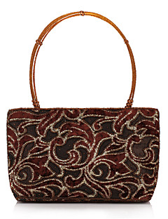 Elegant Polyester with Beadings Evening Handbag/Top Handle Bag(More Colors)