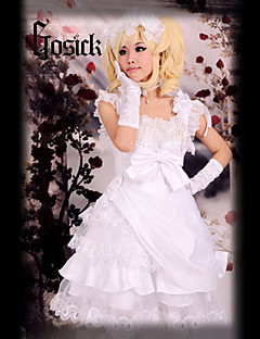 Inspired by Black Butler Elizabeth Anime Cosplay Costumes Cosplay Suits Patchwork White Top