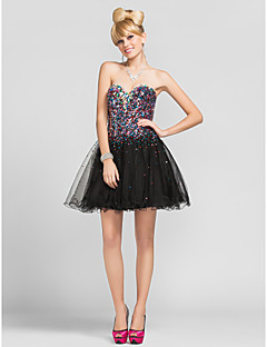 TS Couture® Cocktail Party / Homecoming Dress - Sparkle & Shine Plus Size / Petite A-line / Princess Strapless / Sweetheart / Spaghetti StrapsShort /