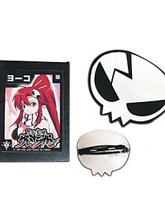 Sieraden / Helm geinspireerd door Cosplay Yuko Anime Cosplay Accessoires Helm Wit / Zwart PU Leder Vrouwelijk