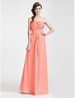 Wedding Party/Formal Evening Dress - Watermelon Plus Sizes Sheath/Column Strapless Floor-length Chiffon