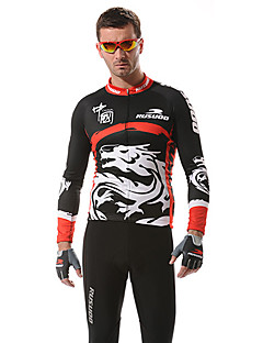 RUSOO COOLDRY Material Long Sleeve Breathable Men Cycling Jersey RS-C001