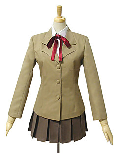 Inspired by Pretty Cure Cosplay Anime Cosplay Costumes Cosplay Suits / School Uniforms Patchwork Brown Long SleeveCoat / Shirt / Skirt /