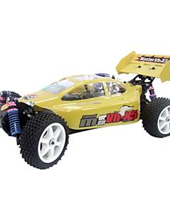 Carro de Controle Remoto à Rádio Bugue de Corrida  1:10 RC Nitro Gas Motor 15CC 4WD RTR