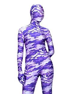 Light Purple Camouflage Spandex Lycra Full Body Zentai