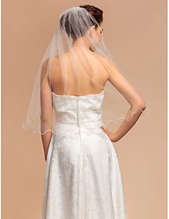 웨딩 면사포 한층 팔꿈치 베일 펜슬 가장자리 27.56 in (70cm) 명주그물 아이보리 A라인, 볼가운, 프린세스, 시스/컬럼, 트럼펫/멀메이드