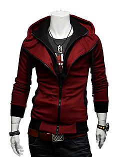 Men's Contrast Color Hoodie Thin Jacket