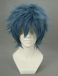 Cosplay Wigs Gintama Bansai Kawakami Blue Short Anime Cosplay Wigs 32 CM Heat Resistant Fiber Male