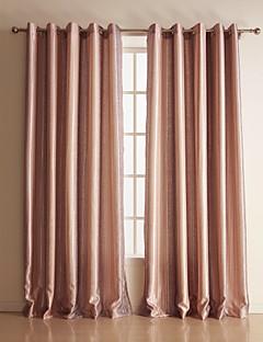 (To paneler) polyester farve nuance stribe værelse mørkfarvning gardin