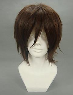 Cosplay Wigs Code Gease Kururugi Suzaku Brown Short Anime Cosplay Wigs 32 CM Heat Resistant Fiber Male