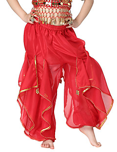 Belly Dance Bottoms Children's Training Chiffon Coins / Sequins 1 Piece Natural Pants