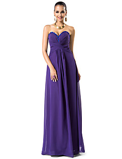 Formal Evening/Prom/Military Ball Dress - Regency Plus Sizes Sheath/Column Sweetheart/Strapless Floor-length Chiffon
