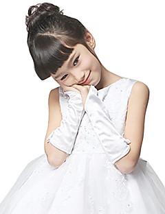 Elbow Length Fingerless Glove Satin Flower Girl Gloves Spring / Fall / Winter