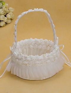 ziemlich Hochzeit Blume Korb mit weißen Organza Rose