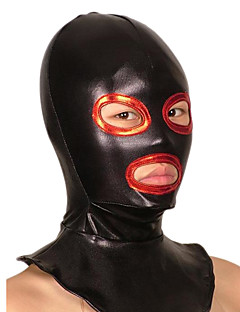 Black and Red Open Eyes and Mouse Shiny Metallic Hood