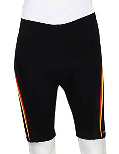 Kooplus מכנס קצר מרופד לרכיבה לגברים אופניים נושם לביש רצועות מחזירי אור 4D לוח מכנסיים קצרים תחתיות 100% פוליאסטר אחידרכיבה על