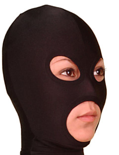 Black Lycra Open Eyes and Mouth Hood
