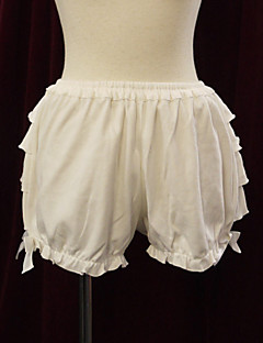 White Frill Cotton Sweet Lolita Bloomers
