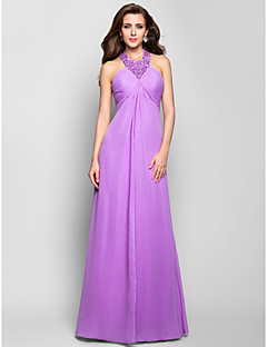 Formal Evening / Prom / Military Ball Dress - Lilac Plus Sizes / Petite A-line Halter Floor-length Chiffon