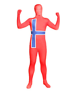 Zentai kombinézy Ninja Zentai Cosplay kostýmy Červená / Modrá Tisk Leotard/Kostýmový overal / Zentai Lycra Unisex Halloween / Vánoce