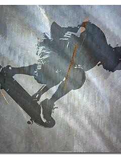 impressos da lona de arte pessoas skater II Karen Williams com quadro esticado