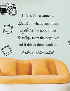 Livet er som en Camera Foto Wall Sticker