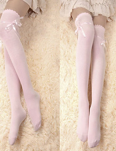 Pink Ribbon Coton Sweet Lolita Chaussettes longues
