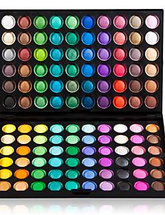 Professionel 3-i-1 mat og flimrende øjenskyggepalette m. 120 farver