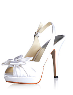 Fabuleux Satin Stiletto talon pompes avec des chaussures de mariage bowknot (plus de couleurs)