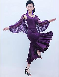 ריקודים סלוניים תלבושות בגדי ריקוד נשים אימון תחרה / ויסקוזה קפלים טבעי