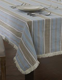 Classique Coton Jacquard Tissus à rayures bleues table