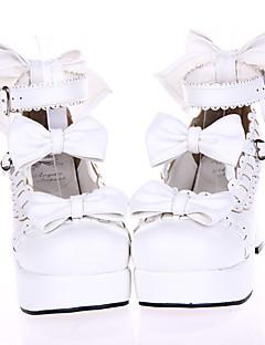Scarpe Dolce Da principessa Tacco alto Scarpe Fiocco 7.5 CM Bianco Per Da donna Similpelle/Costumi in similcuoio di poliuretano