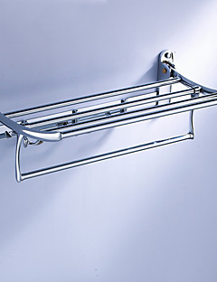 Multifunction Folding Towel Shelf with Hooks