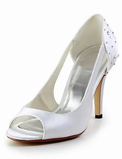 Women's Wedding Shoes Peep Toe Heels Wedding Blue/Red/Ivory/White