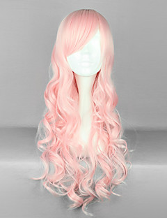 Peach Pink 70cm Sweet Lolita Curly Wig