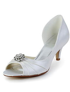 Women's Wedding Shoes Heels/Peep Toe Heels Wedding Red/Ivory/White