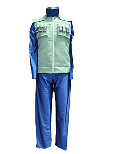 קיבל השראה מ Naruto Hatake Kakashi אנימה תחפושות קוספליי חליפות קוספליי טלאים שחור / כחול / ירוק שרוולים ארוכים וסט / חולצת טי / מכנסיים