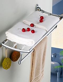Sharks d fish stainless steel chromium-plated folded bathroom Towel rack bathroom hardware accessories bathroom glass shelf