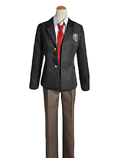 Inspired by Free! Rei Ryugazaki Anime Cosplay Costumes Cosplay Suits / School Uniforms Solid Black Long Sleeve Coat / Shirt / Pants / Tie