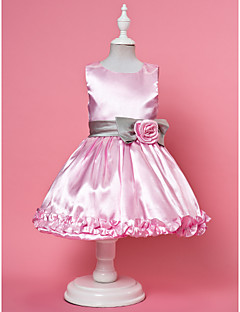 A-line/Ball Gown/Princess Ankle-length Flower Girl Dress - Chiffon/Lace/Satin/Tulle Sleeveless