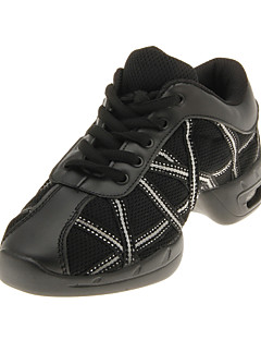 Fashion Womens Leather With Net Upper Dance Sneakers Fashion Children amp Women s