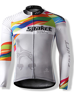 SPAKCT Men's Unisex Long Sleeve Bike Breathable Thermal / Warm Quick Dry Windproof Front Zipper Dust Proof Anti-Insect WearableJersey