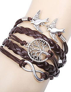 Damen Bettelarmbänder Lederarmbänder Wickelarmbänder Basis Freundschaft Mehrlagig Handgemacht individualisiert Modeschmuck Leder Liebe
