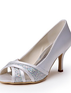 Homme Chaussures de mariage Bout Ouvert Talons Mariage Ivoire